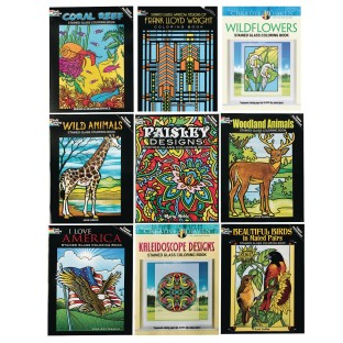 Stained Glass Coloring Book Assortment (Pack of 9) - Image 1 of 1
