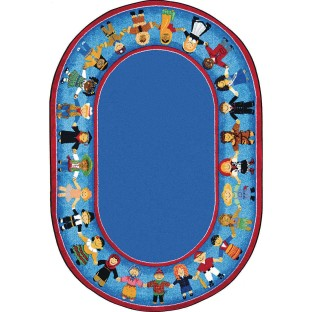 "Children of Many Cultures Carpet, 7'8"" x 10'9"" - Image 1 of 1"