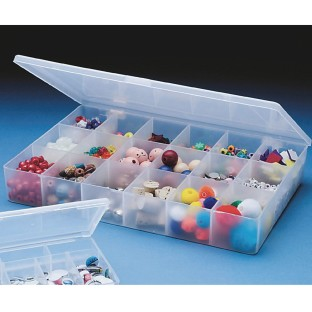 Plastic Storage Box - 18 Sections - Image 1 of 1