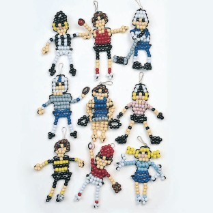 Beaded Sports Figures Craft Kit (Bag of 45) - Image 1 of 2