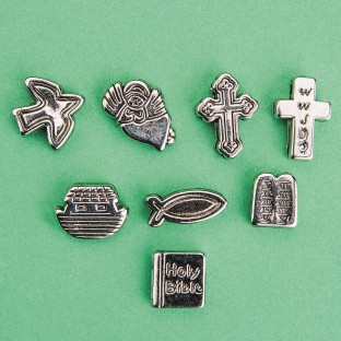Metallic Christian Symbol Beads - Image 1 of 1