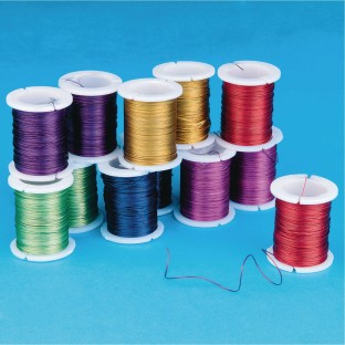 Metallic Colored Craft Wire (Pack of 12) - Image 1 of 1
