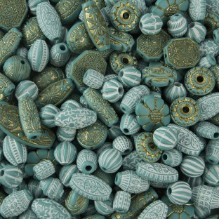 Old World Bead Mix - Turquoise - Image 1 of 1