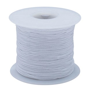 White Elastic Cord, 100 Yards - Medium - Image 1 of 1