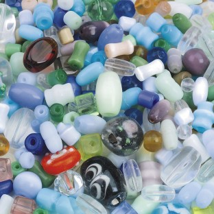 Glass Bead Mix, 1/2 lb - Image 1 of 2