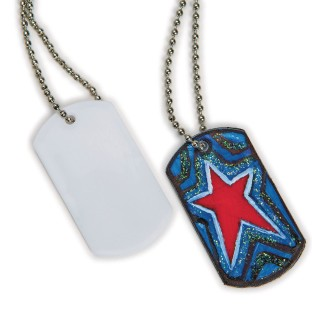 Color-Me™ Dog Tag Necklaces (Pack of 50) - Image 1 of 1