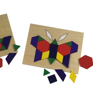Pattern Blocks and Board - Image 1 of 1