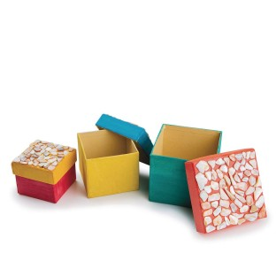 Paper Mache Nested Boxes - Square - Image 1 of 3