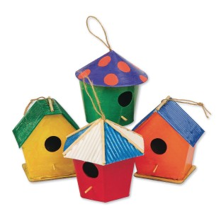 Paper Mache Mini Birdhouses (Pack of 12) - Image 1 of 2
