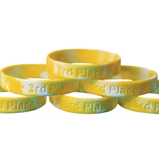 3rd Place Silicone Bracelet (Pack of 24) - Image 1 of 2