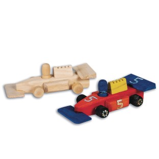 Mini Unfinished Wood Race Cars (Pack of 12) - Image 1 of 1