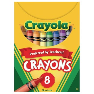 Crayola® Regular Size Crayons, Box of 8 (Pack of 12) - Image 1 of 1