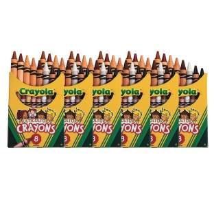 Crayola® Multicultural Crayons Box of 8 (Pack of 6) - Image 1 of 1