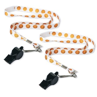 Basketball Breakaway Lanyards And Whistles (Pack of 2) - Image 1 of 2