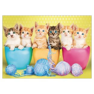 Kittens in a Cup Jigsaw Puzzle, 300 Pieces - Image 1 of 2