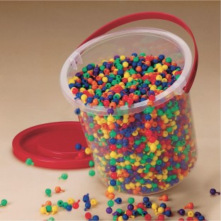 Bucket of Pop Beads - Image 1 of 1