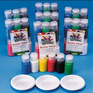 Color Splash!® Acrylic Paint Pass Around Pack, 3/4 oz. (Pack of 48) - Image 1 of 1
