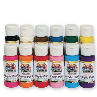 Color Splash!® Acrylic Paint Assortment, 2 oz. (Set of 12) - Image 1 of 1