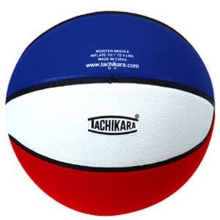 Tachikara® Rubber Basketball, Red White and Blue - Image 1 of 1