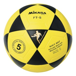 Mikasa® FT5 Soccer Ball Size 5 Yellow/Black - Image 1 of 1