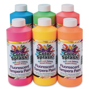 Color Splash!® Neon Liquid Tempera Paint Assortment, 16 oz. (Set of 6) - Image 1 of 2