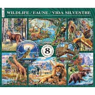 8-In-1 Puzzle Assortment, Wildlife - Image 1 of 1