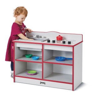 Jonti-Craft® Rainbow Accents™ Toddler 2-in-1 Play Kitchenette - Image 1 of 2