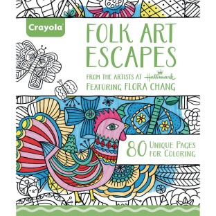 Crayola® Adult Coloring Book: Folk Art Escapes - Image 1 of 1