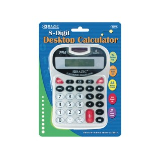 8-Digit Silver Desktop Calculator - Image 1 of 1
