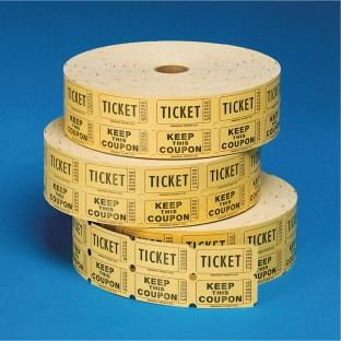 Double Roll Tickets , Yellow, Yellow - Image 1 of 1
