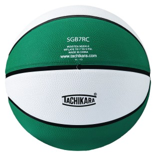 Tachikara® Rubber Basketball, Green/White - Image 1 of 1