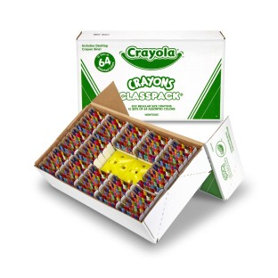 Crayola® Classpack® Crayons - 64 Colors (Box of 832) - Image 1 of 1
