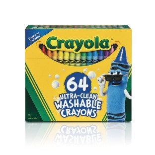 Crayola® Ultra-Clean® Washable Crayons (Box of 64) - Image 1 of 1