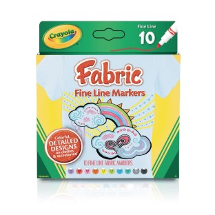 Crayola® Fineline Fabric Markers (Pack of 10) - Image 1 of 1