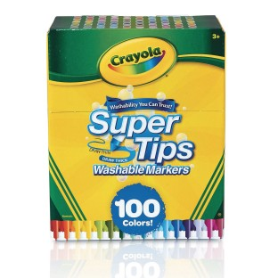 Crayola® Super Tips Washable Markers (Pack of 100) - Image 1 of 1