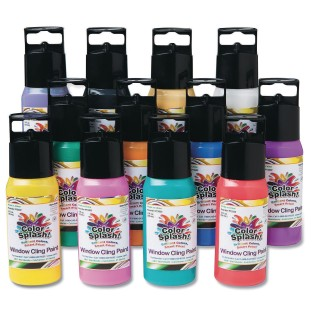 Color Splash!® Window Cling Paint Assortment, 2 oz. (Pack of 12) - Image 1 of 1
