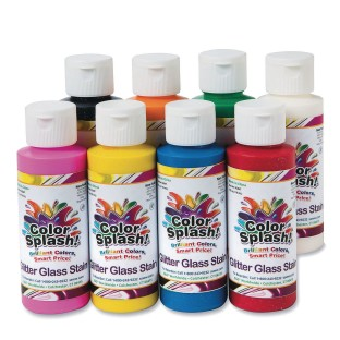 Color Splash!® Glitter Glass Stain Assortment, 4 oz. (Pack of 8) - Image 1 of 2
