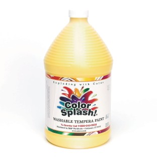 Color Splash!® Washable Tempera Paint - 128oz., Yellow - Image 1 of 1