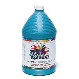 Color Splash!® Washable Tempera Paint - 128oz., Turquoise - Image 1 of 1