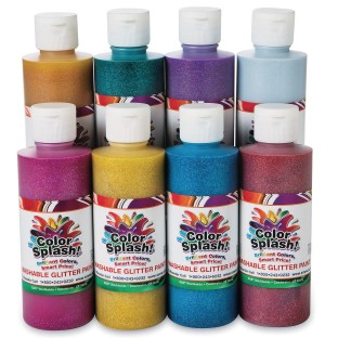 Color Splash!® Washable Glitter Paint Assortment, 8 oz. (Pack of 8) - Image 1 of 1