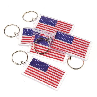 US Flag Keychains (Pack of 12) - Image 1 of 1