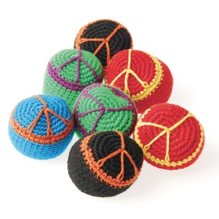 Peace Sign Kick Ball Sack (Pack of 12) - Image 1 of 1