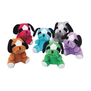 Plush Multicolor Bulldogs (Pack of 12) - Image 1 of 1