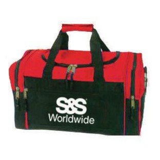 Compact Duffel Bag, Red/Black with S&S® Logo - Image 1 of 2