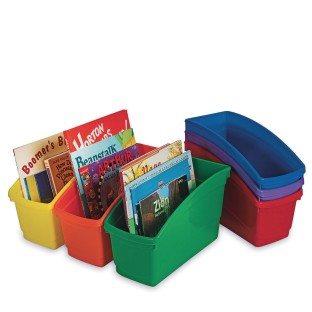 Book Bins Set, Assorted (Pack of 6) - Image 1 of 1