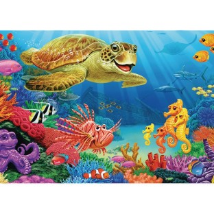 Undersea Turtle 35-Piece Tray Puzzle - Image 1 of 1