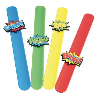 Super Hero Slap Bracelet (Pack of 12) - Image 1 of 2