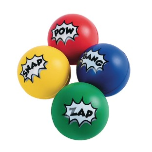 Super Hero Stress Balls (Pack of 12) - Image 1 of 1