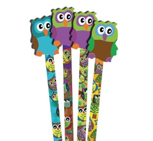 Owl Pencils and Erasers (Pack of 36) - Image 1 of 1