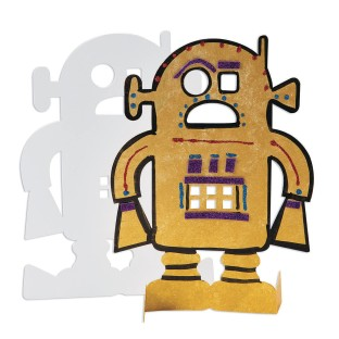 Color-Me™ Stand Up Robots (Pack of 24) - Image 1 of 5